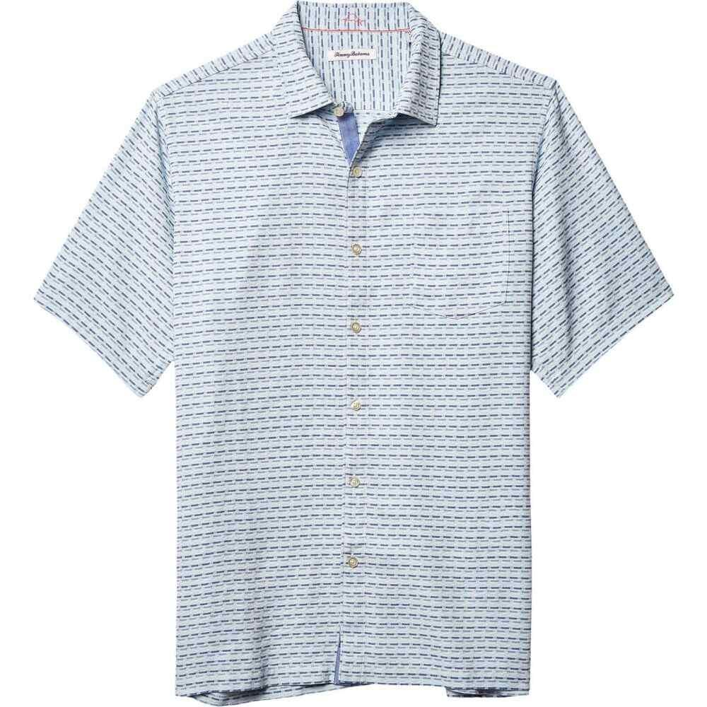トミー バハマ Tommy Bahama Big & Tall メンズ シャツ 大きいサイズ トップス【Big & Tall Geovanni Geo Shirt】Monaco Blue