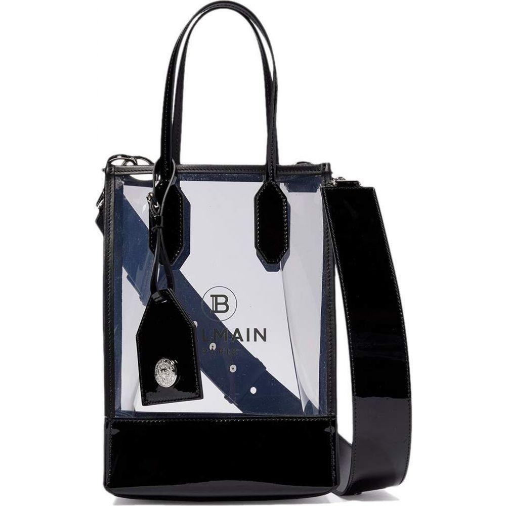 バルマン Balmain レディース ショルダーバッグ バッグ【PVC Logo Shopping Bag】Clear/Black