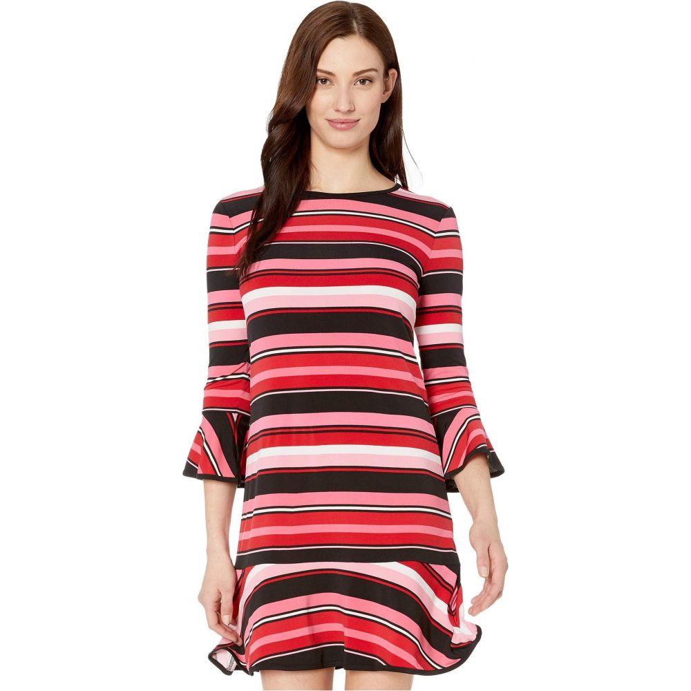 マイケル コース MICHAEL Michael Kors レディース ワンピース ワンピース・ドレス【Stripe Flounce Dress】Camelia Rose