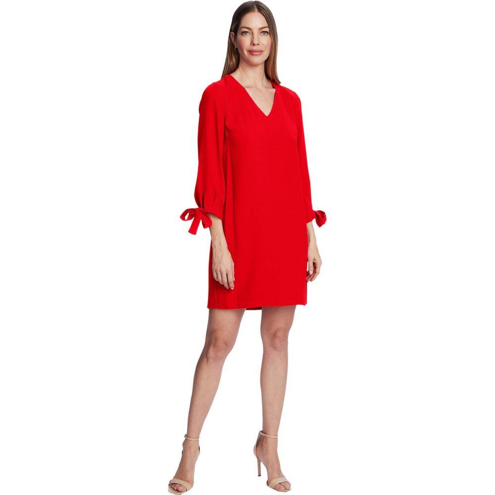 シーシー CeCe レディース ワンピース Vネック ワンピース・ドレス【3/4 Tie Sleeve V-Neck Dress】Candy Apple
