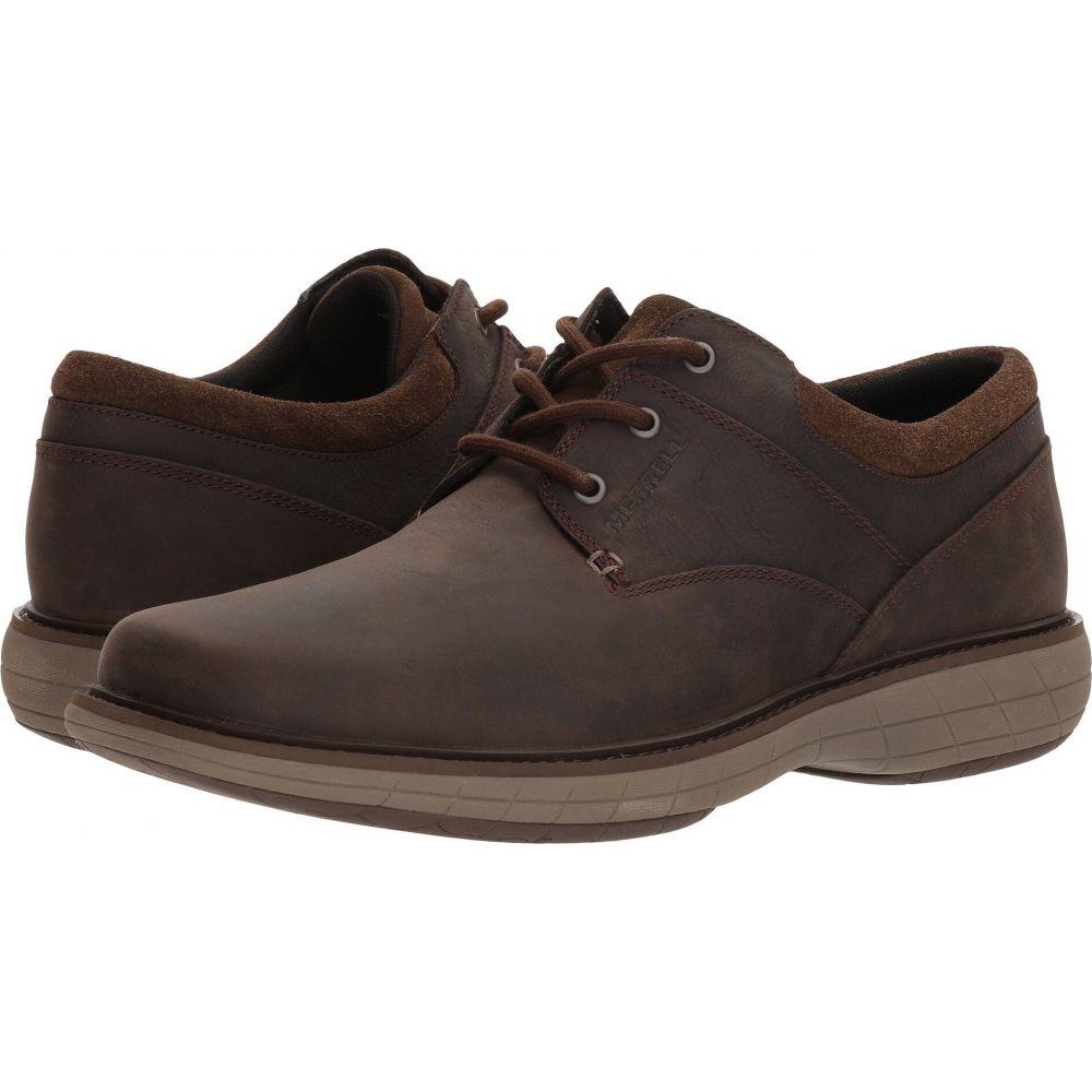 シューズ・靴【World Slate Merrell 革靴・ビジネスシューズ Vue メンズ Lace】Black メレル