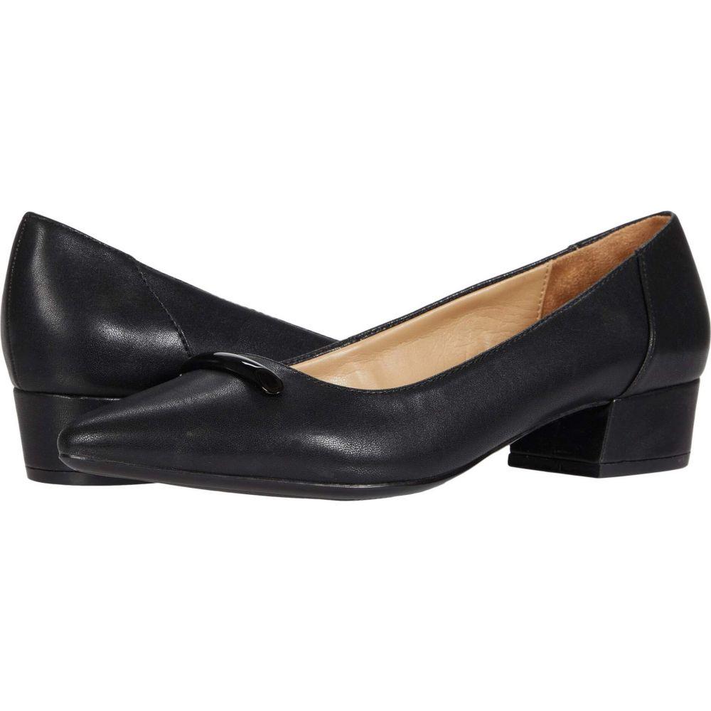 オリジナル ナチュラライザー レディース シューズ トラスト 靴 パンプス Black Smooth サイズ交換無料 Naturalizer Feather
