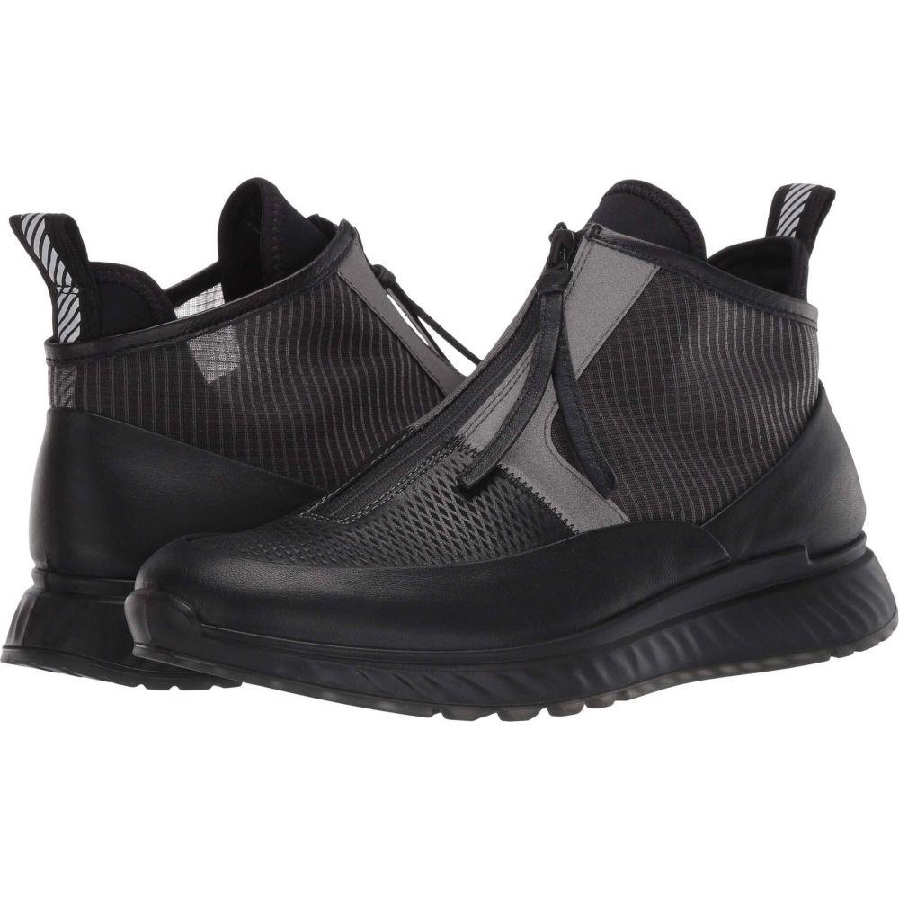 エコー メンズ シューズ 靴 スニーカー Black Titanium サイズ交換無料 Cut Zip 別倉庫からの配送 Sneaker お中元 ST.1 Mid ECCO