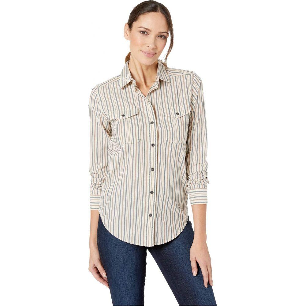 フィルソン Filson レディース ブラウス・シャツ トップス【Kadin Island Shirt】Natural/Blue/Brown Stripe