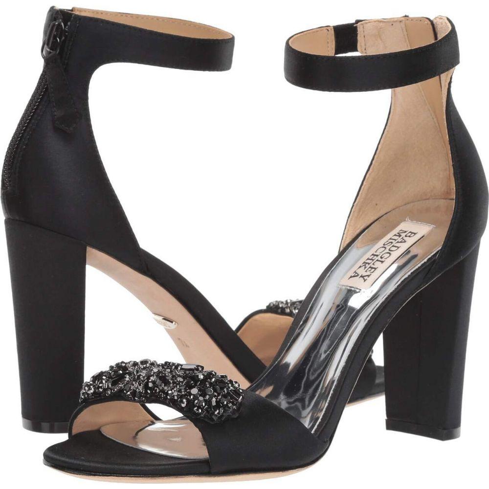 バッジェリー ミシュカ Badgley Mischka レディース サンダル・ミュール シューズ・靴【Edaline】Black Satin