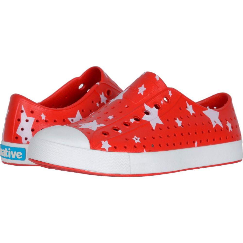 Stars レディース Native ネイティブ Red/Shell スニーカー Print】Torch Shoes シューズ White/Multi シューズ・靴【Jefferson