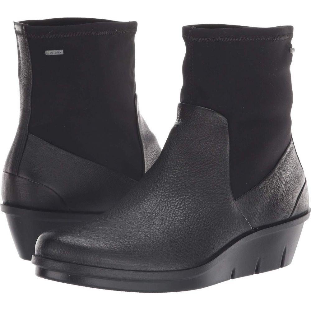 シューズ・靴【Skyler レディース エコー Boot】Black/Black ECCO ブーツ GORE-TEX