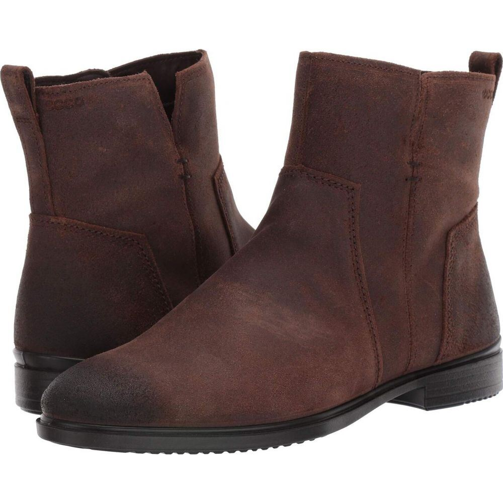 B Cow シューズ・靴【Touch エコー ショートブーツ レディース ECCO Ankle 15 Suede Boot】Coffee ブーツ