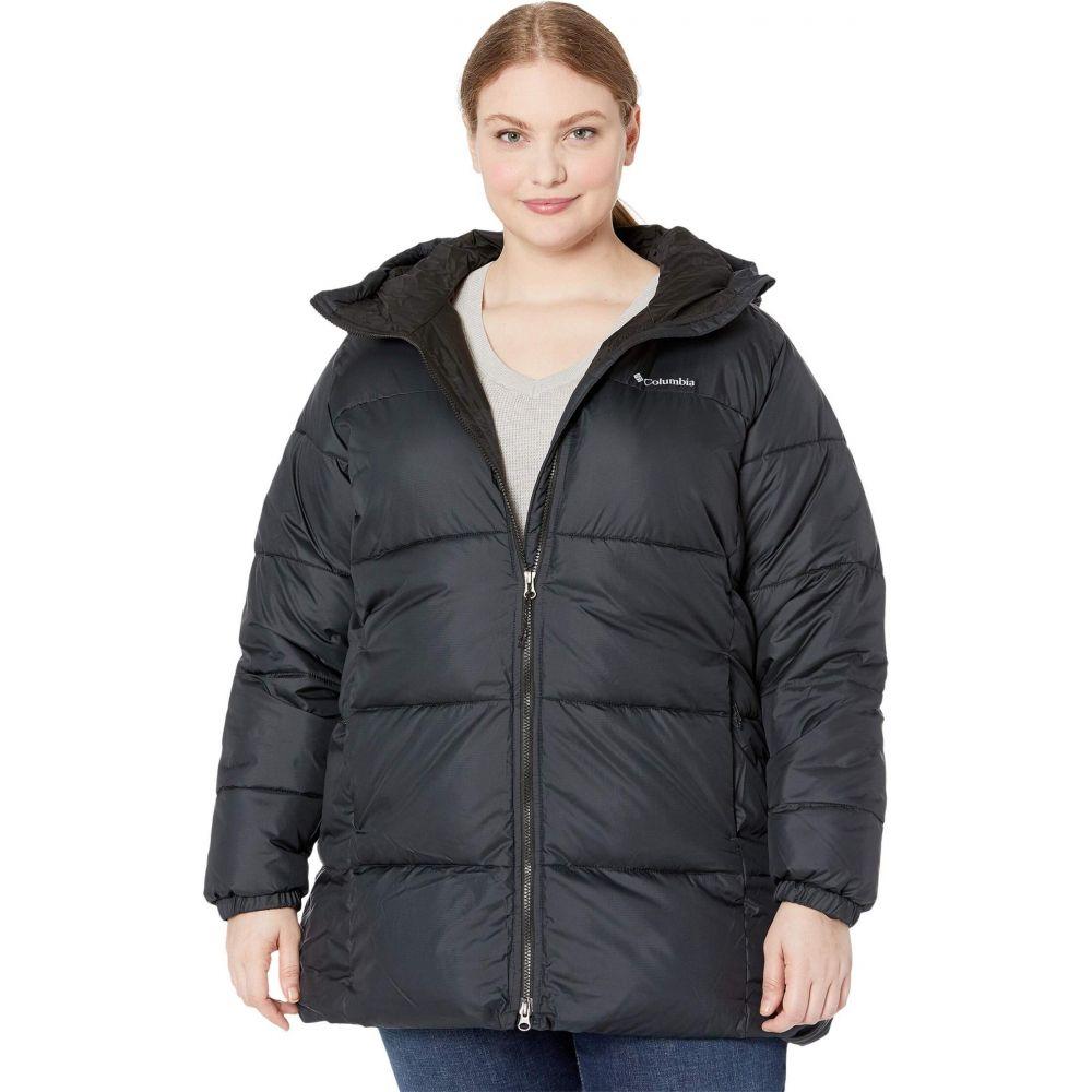 Puffect コロンビア レディース Columbia ダウン・中綿ジャケット アウター【Plus フード Jacket】Black 大きいサイズ Hooded Mid Size