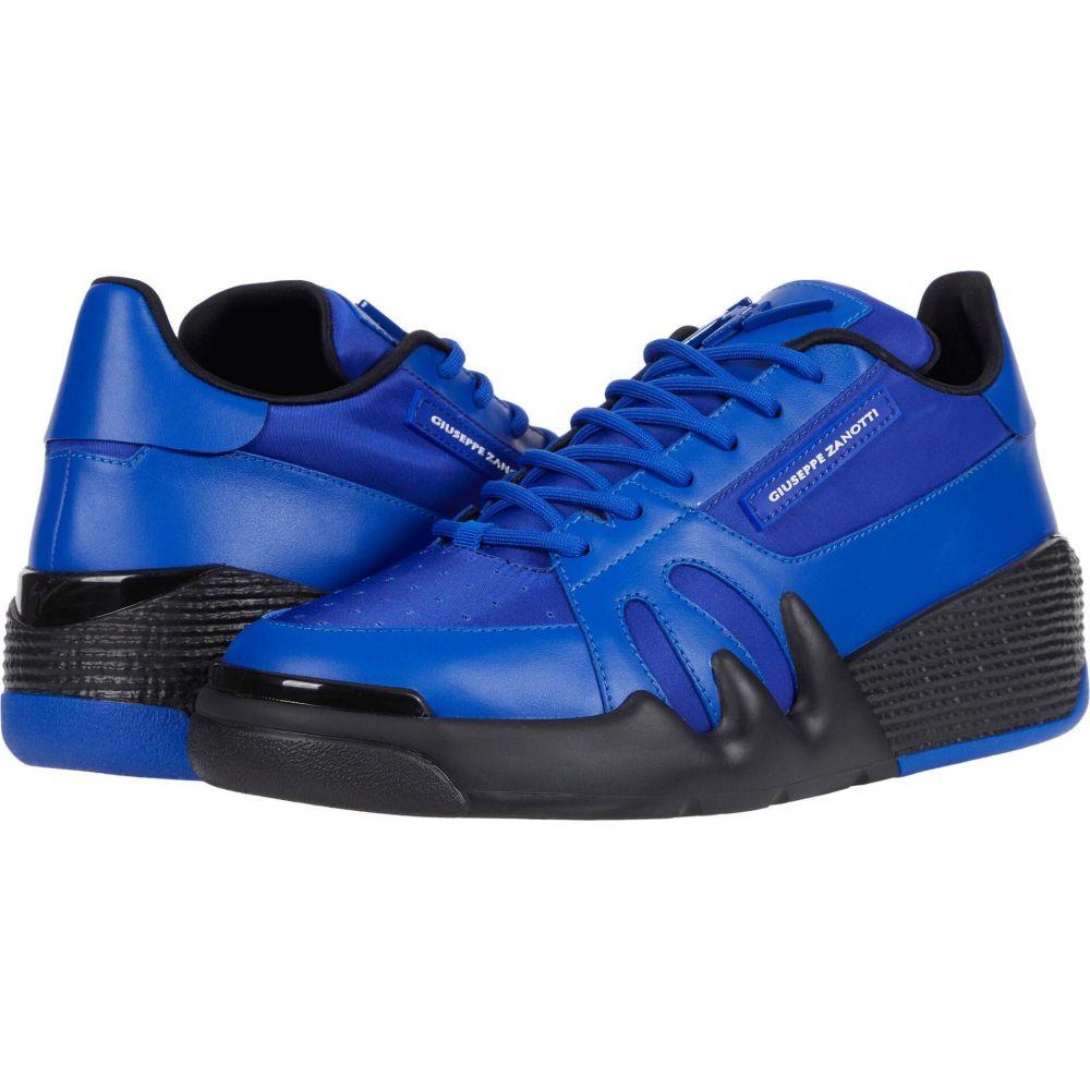 ジュゼッペ ストアー ザノッティ メンズ シューズ 靴 スニーカー 期間限定特別価格 サイズ交換無料 Talon Black Zanotti Giuseppe Blue