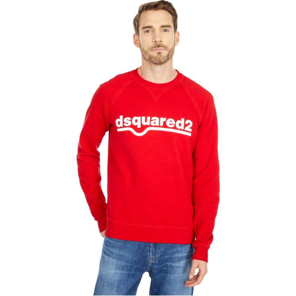 <title>ディースクエアード メンズ トップス スウェット トレーナー Red 供え サイズ交換無料 DSQUARED2 ラグラン Raglan Fit Fade Dyed Sweatshirt</title>