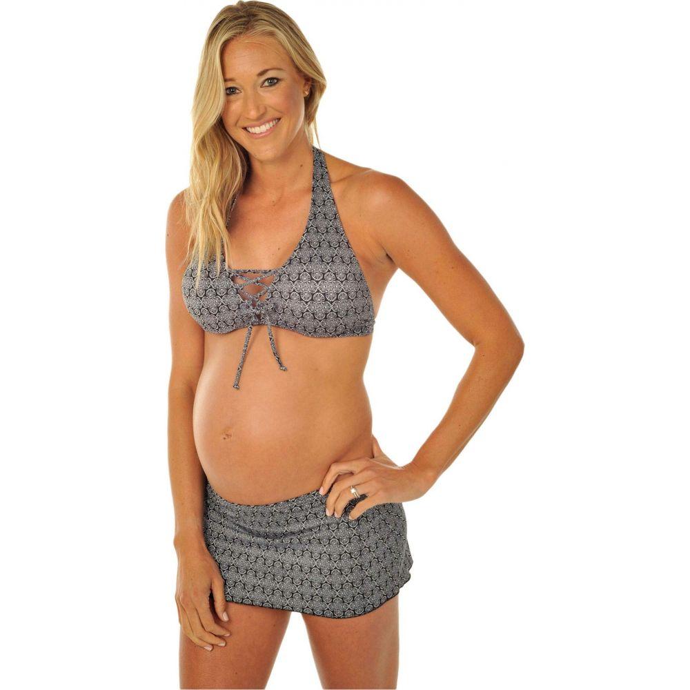 プレーゴ Prego Maternity Wear レディース 上下セット マタニティウェア 水着・ビーチウェア【Daisy Dot Skirted Maternity Bikini】Black