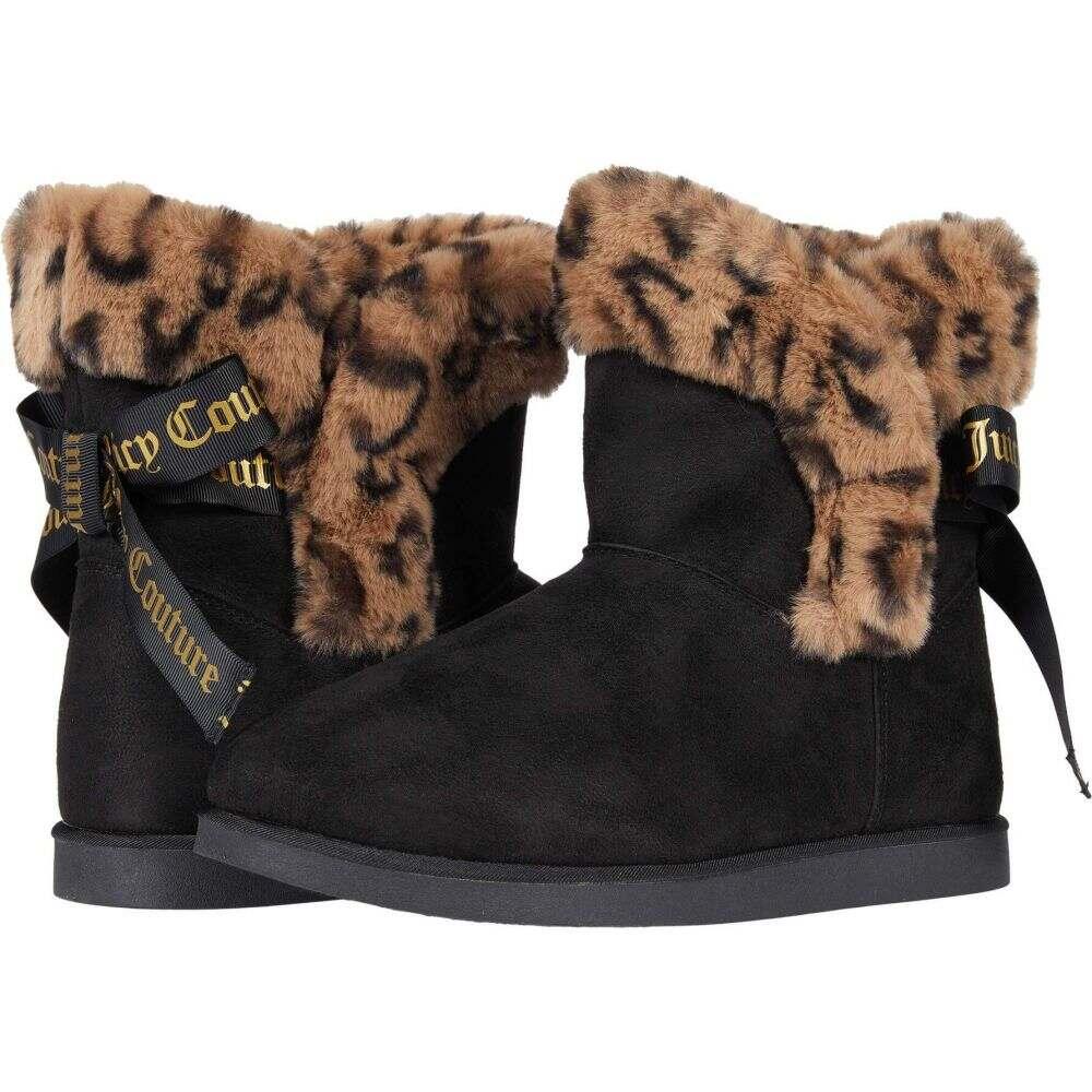 ジューシークチュール レディース シューズ 靴 ブーツ Black 100%品質保証 Couture 信頼 King Leopard Micro サイズ交換無料 Juicy