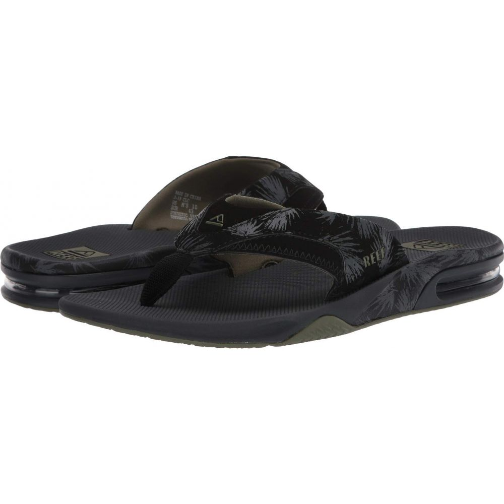 リーフ メンズ シューズ 靴 ビーチサンダル Olive Fanning 待望 ついに再販開始 サイズ交換無料 Prints Palm Reef
