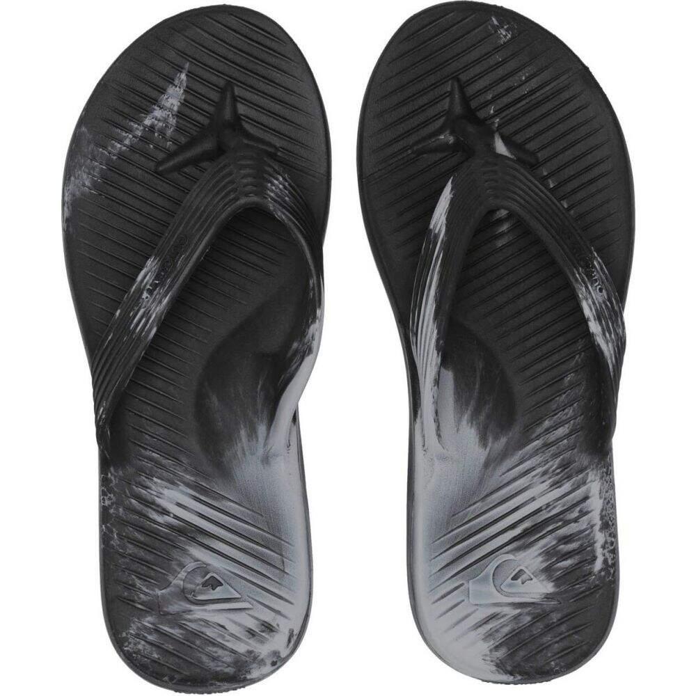 クイックシルバー メンズ シューズ 正規認証品 新規格 靴 ビーチサンダル Black Quiksilver サイズ交換無料 Blue Salvage 送料無料新品 Flip-Flops Grey