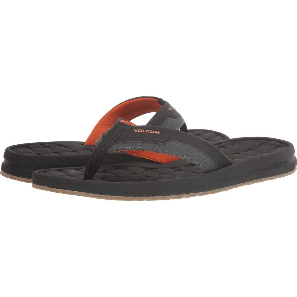 ボルコム メンズ 登場大人気アイテム シューズ 靴 ビーチサンダル Burnt 超特価 Volcom サイズ交換無料 E-Cliner Orange Sandal