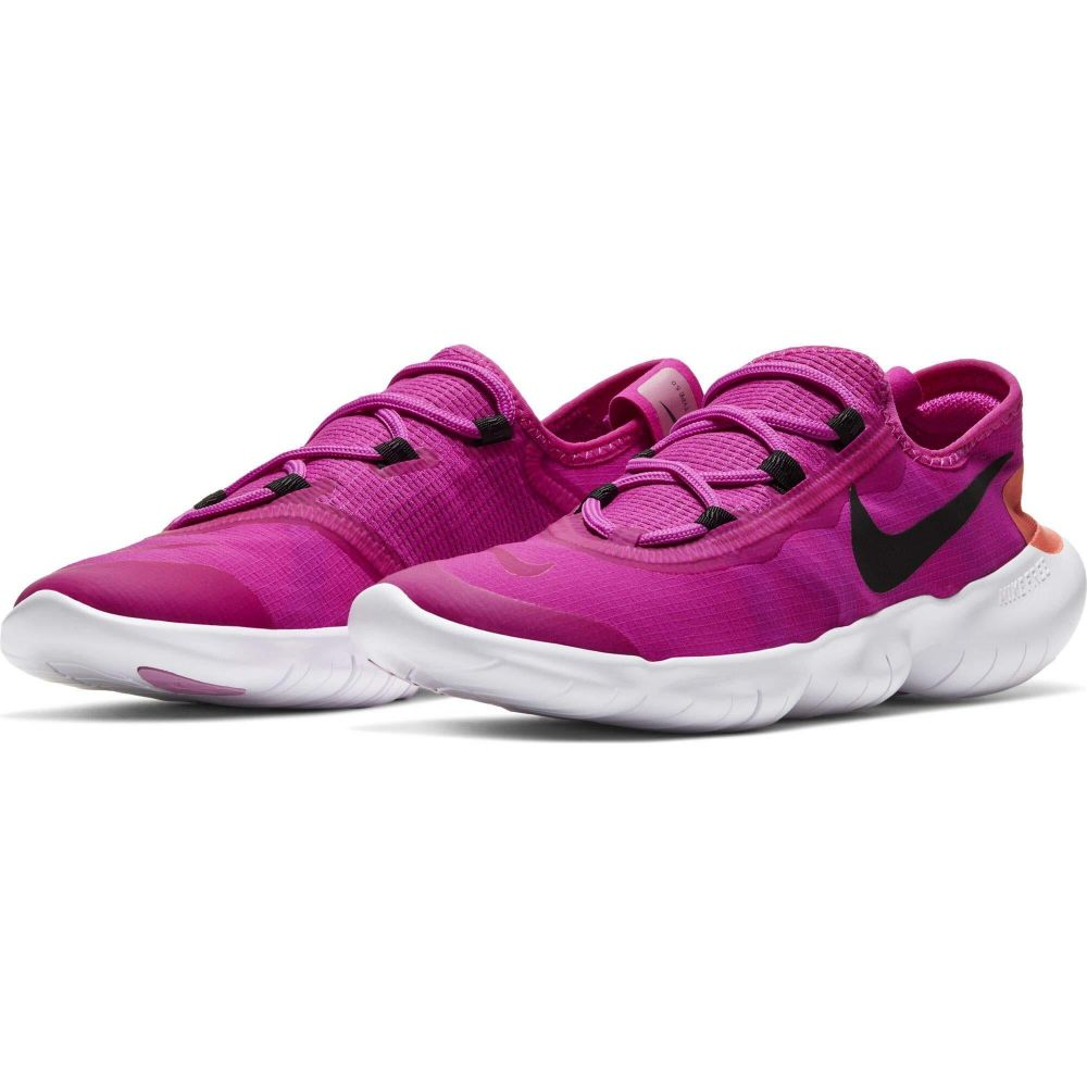 <title>ナイキ レディース ランニング ウォーキング シューズ 靴 Fire Pink Black Magic Ember サイズ交換無料 Nike Free RN 無料サンプルOK 5.0 2020</title>