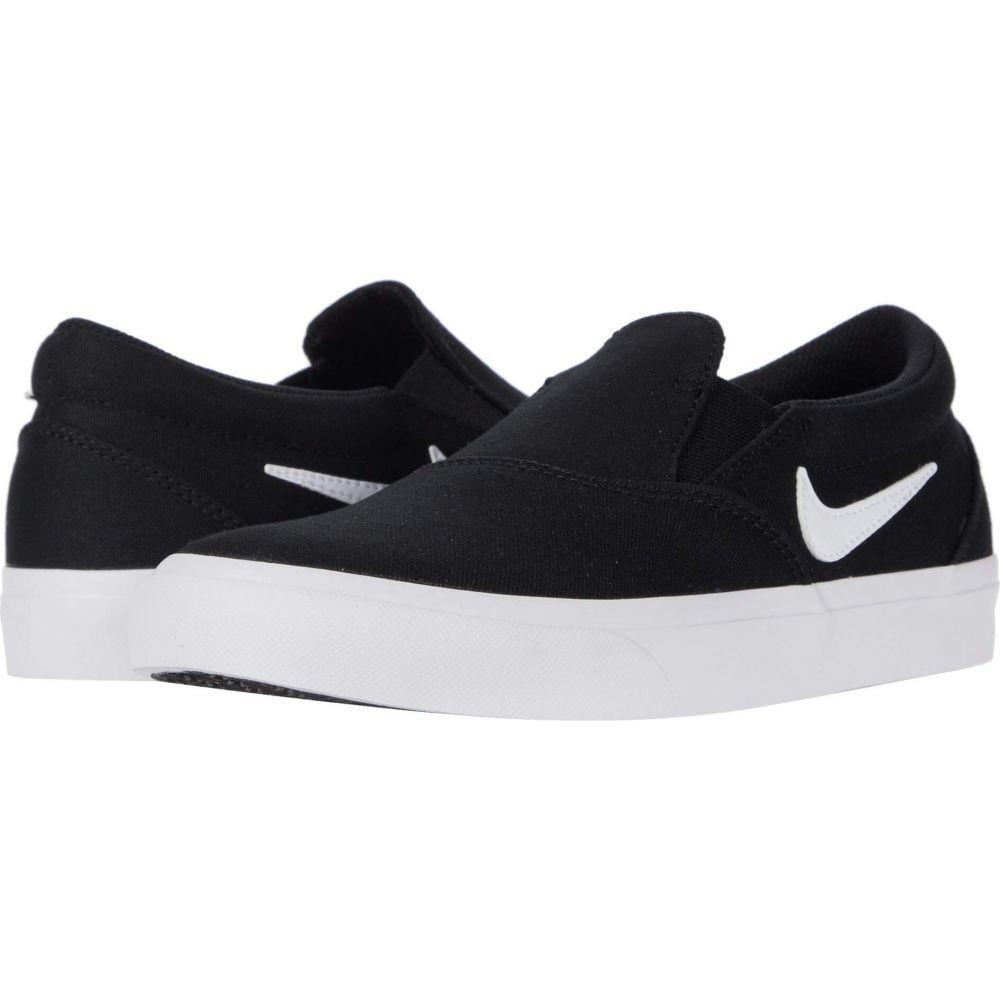 ナイキ レディース シューズ 靴 スニーカー Black セール品 White Slip サイズ交換無料 Charge Nike SB 最新アイテム Canvas
