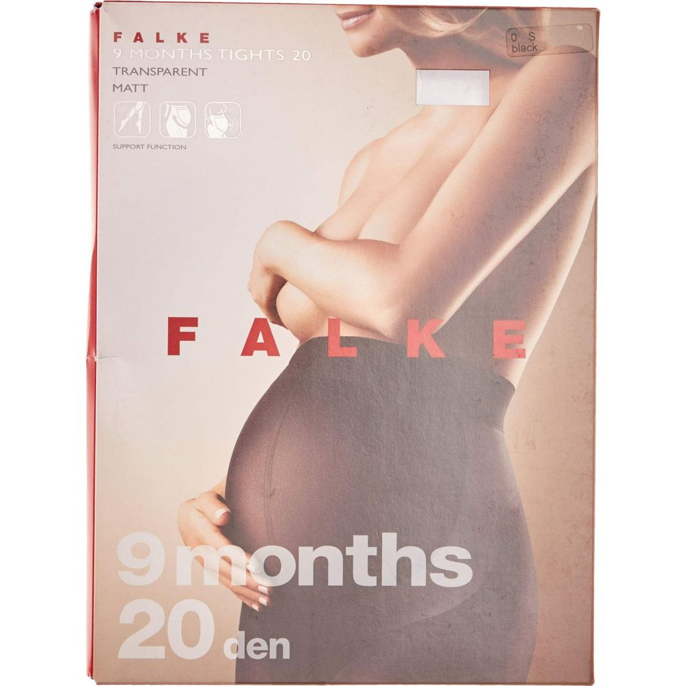 ファルケ レディース インナー 下着 タイツ 贈物 ストッキング Black Maternity Tights 卸直営 サイズ交換無料 Months Falke 9 マタニティウェア