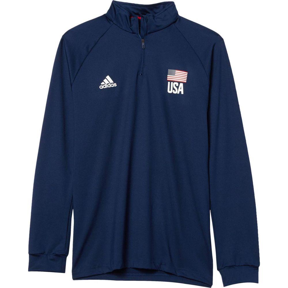 アディダス メンズ バレーボール トップス Team Navy Blue White Power 贈物 Zip サイズ交換無料 USA Volleyball 1 定番キャンバス Red 4 adidas