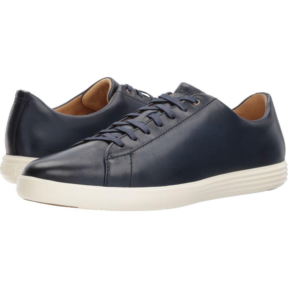 4年保証 世界の人気ブランド コールハーン メンズ シューズ 靴 スニーカー Navy Leather Grand Burnish II Haan Crosscourt サイズ交換無料 Cole