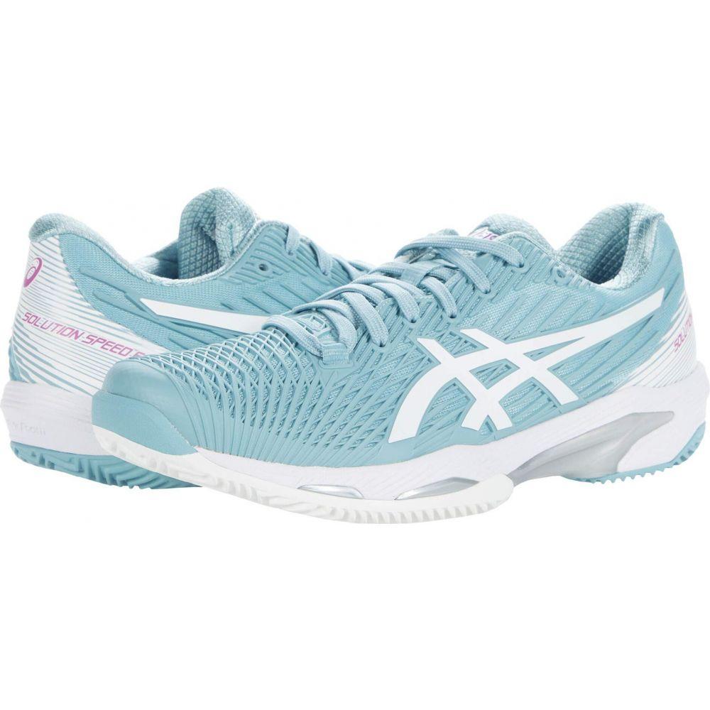 アシックス レディース テニス シューズ 靴 公式サイト Smoke 買い物 Blue Solution FF ASICS White Speed サイズ交換無料 2