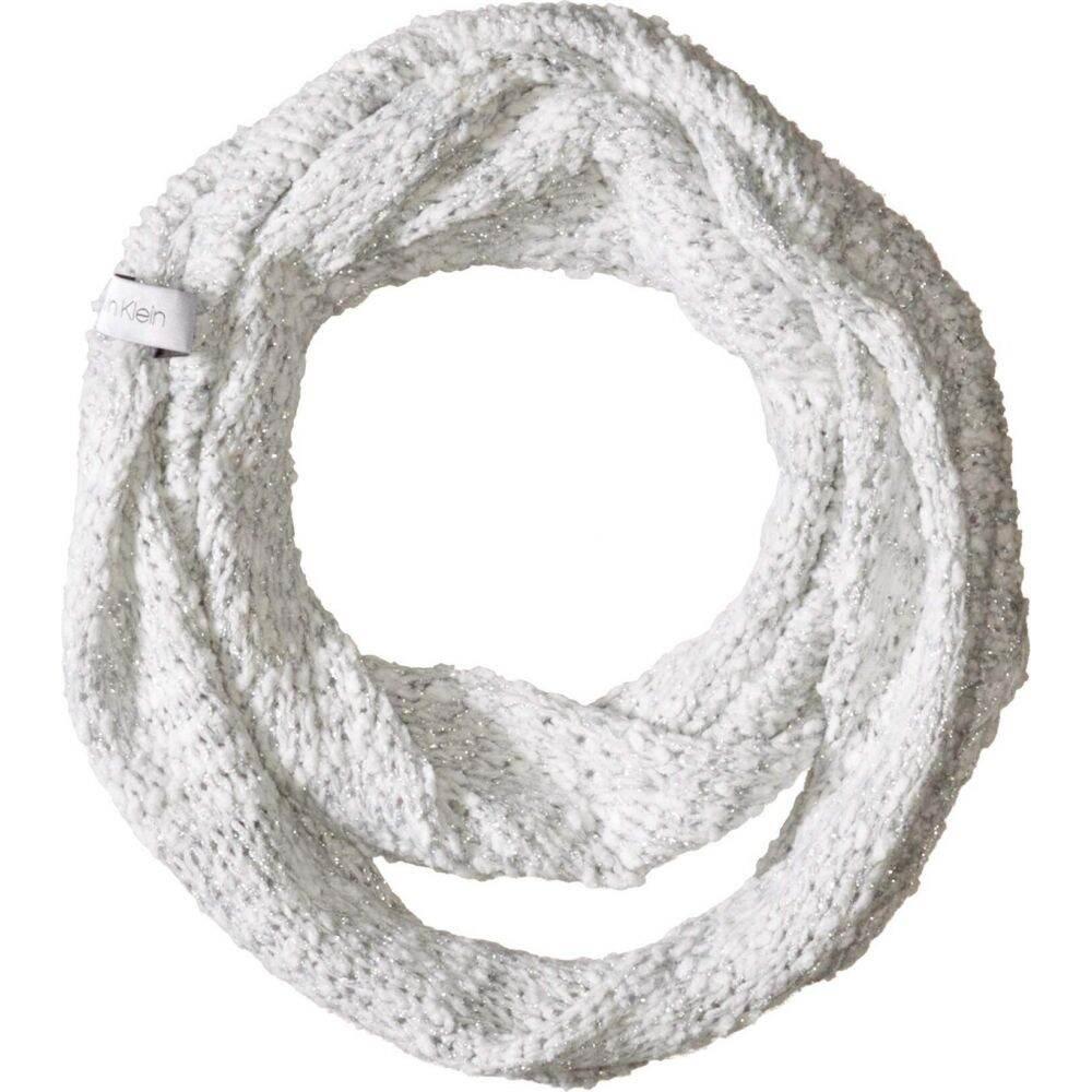 カルバンクライン レディース 爆安プライス ファッション小物 マフラー スカーフ 無料 ストール Cream Klein Loop サイズ交換無料 Lurex Boucle Calvin