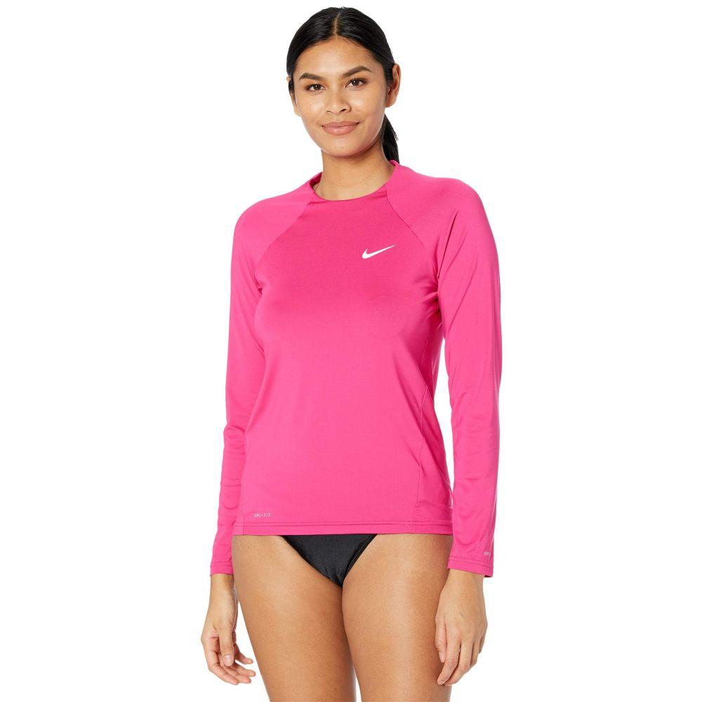 ナイキ レディース 水着 ビーチウェア ラッシュガード Fireberry Nike Essential Sleeve Long レビューを書けば送料当店負担 サイズ交換無料 Hydroguard お気にいる