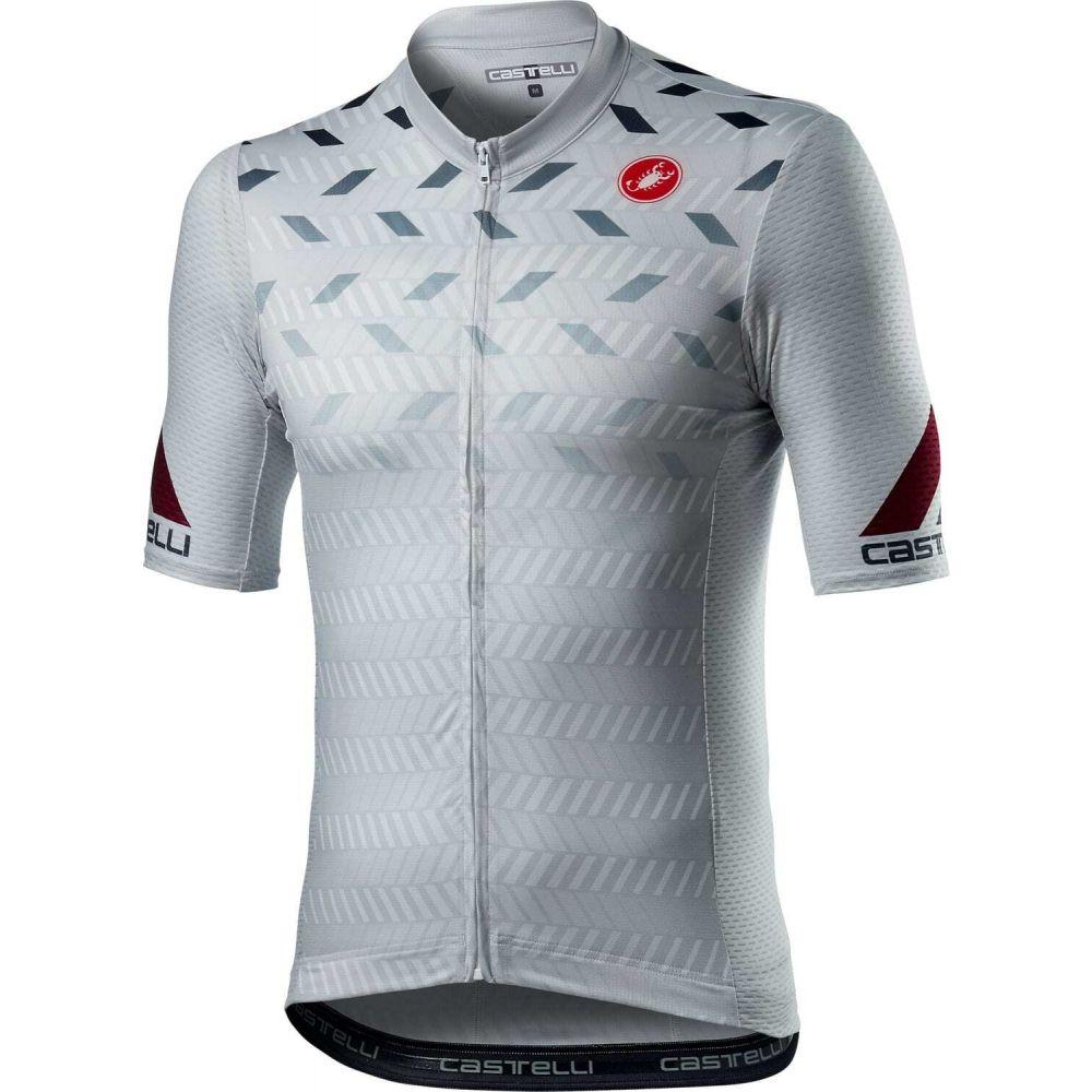 カステリ メンズ 自転車 トップス Silver Grey 【サイズ交換無料】 カステリ Castelli メンズ 自転車 トップス【Avanti Bike Jersey】Silver Grey