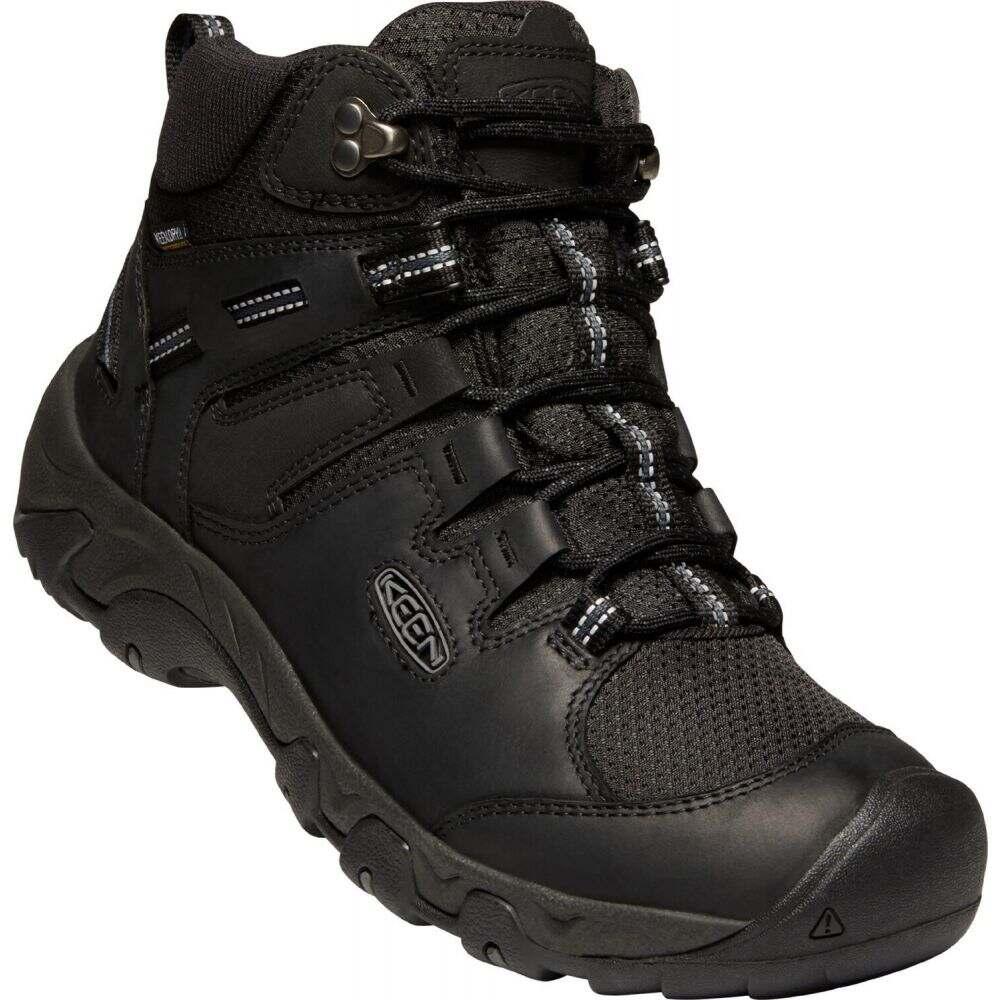 キーン メンズ ハイキング・登山 シューズ・靴 Black/Raven 【サイズ交換無料】 キーン Keen メンズ ハイキング・登山 ブーツ シューズ・靴【Steens Mid Polar Hiking Boots】Black/Raven