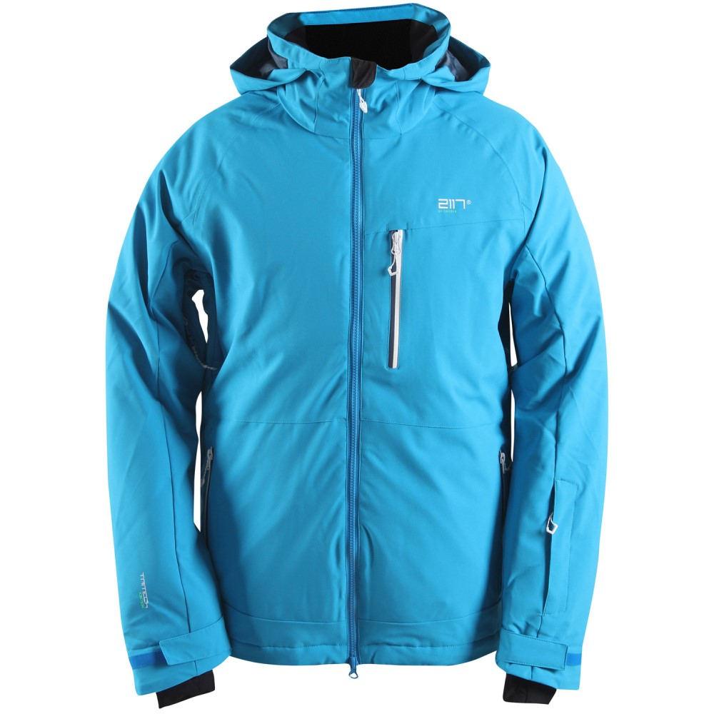 2117オブ スウェーデン メンズ スキー・スノーボード アウター【Baste Eco Padded Snowboard/Ski Jacket】Blue/ Smoke Navy/ White Zip