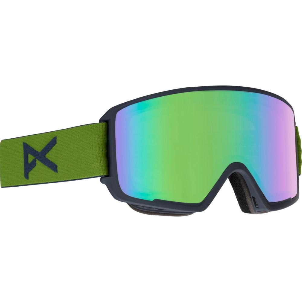 アノン メンズ スキー・スノーボード ゴーグル【M3 MFI Second Goggles 2018】Green/ S O N A R Green Lens
