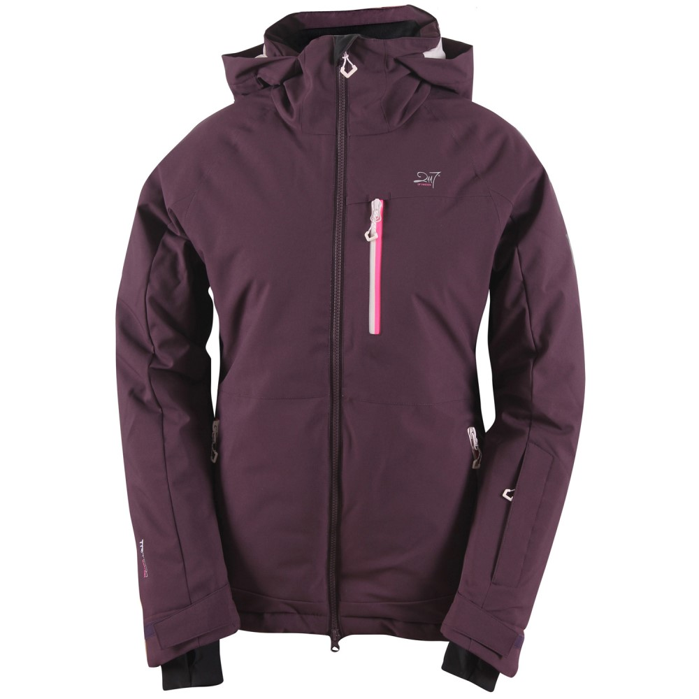 2117オブ スウェーデン レディース スキー・スノーボード アウター【Baste Eco Padded Snowboard/Ski Jacket】Dark Plum/ Old Pink/ Sign. Pink Zip