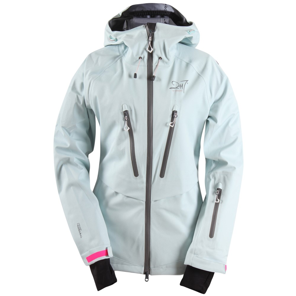 2117オブ スウェーデン レディース スキー・スノーボード アウター【Lima Eco 3L Snowboard/Ski Jacket】Pop Aqua/ Dark Grey Zip