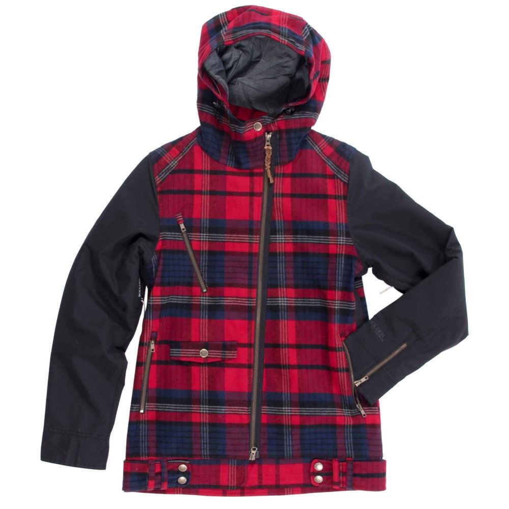 ホールデン レディース スキー・スノーボード アウター【Moto Snowboard Jacket】Red Plaid/ Black