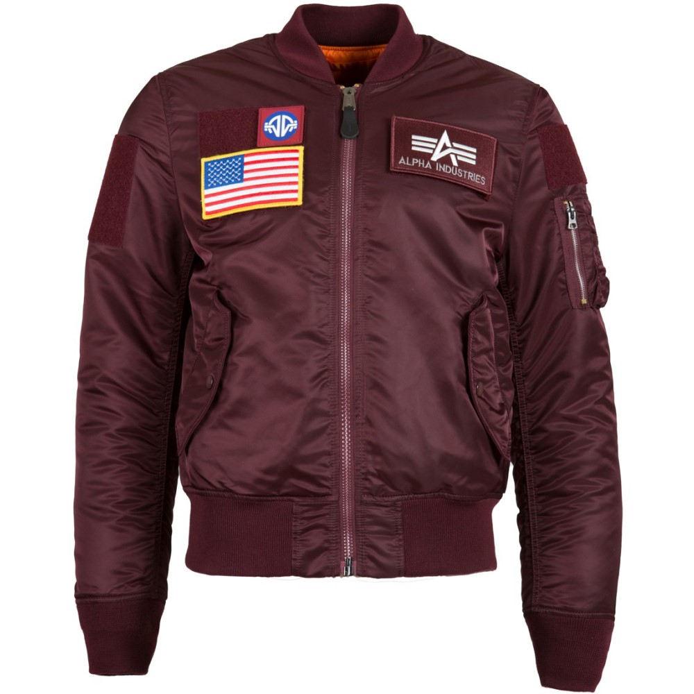 アルファ インダストリーズ メンズ アウター ブルゾン【MA-1 Flex Slim Fit Jacket】Maroon