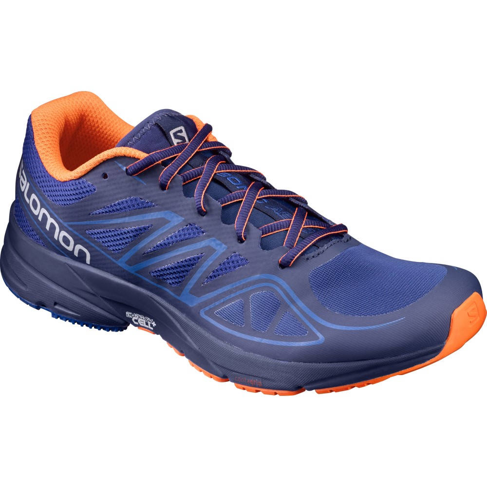 サロモン メンズ シューズ・靴 スニーカー【Sonic Aero Shoes】Surf The Web/ Blue Depths/ Flame