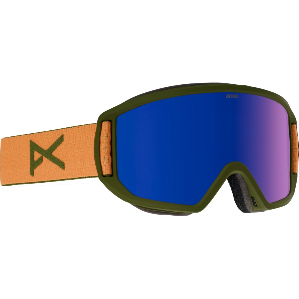 アノン メンズ スキー・スノーボード ゴーグル【Relapse MFI Second Goggles 2018】Orange/ Blue Cobalt And Amber Lens