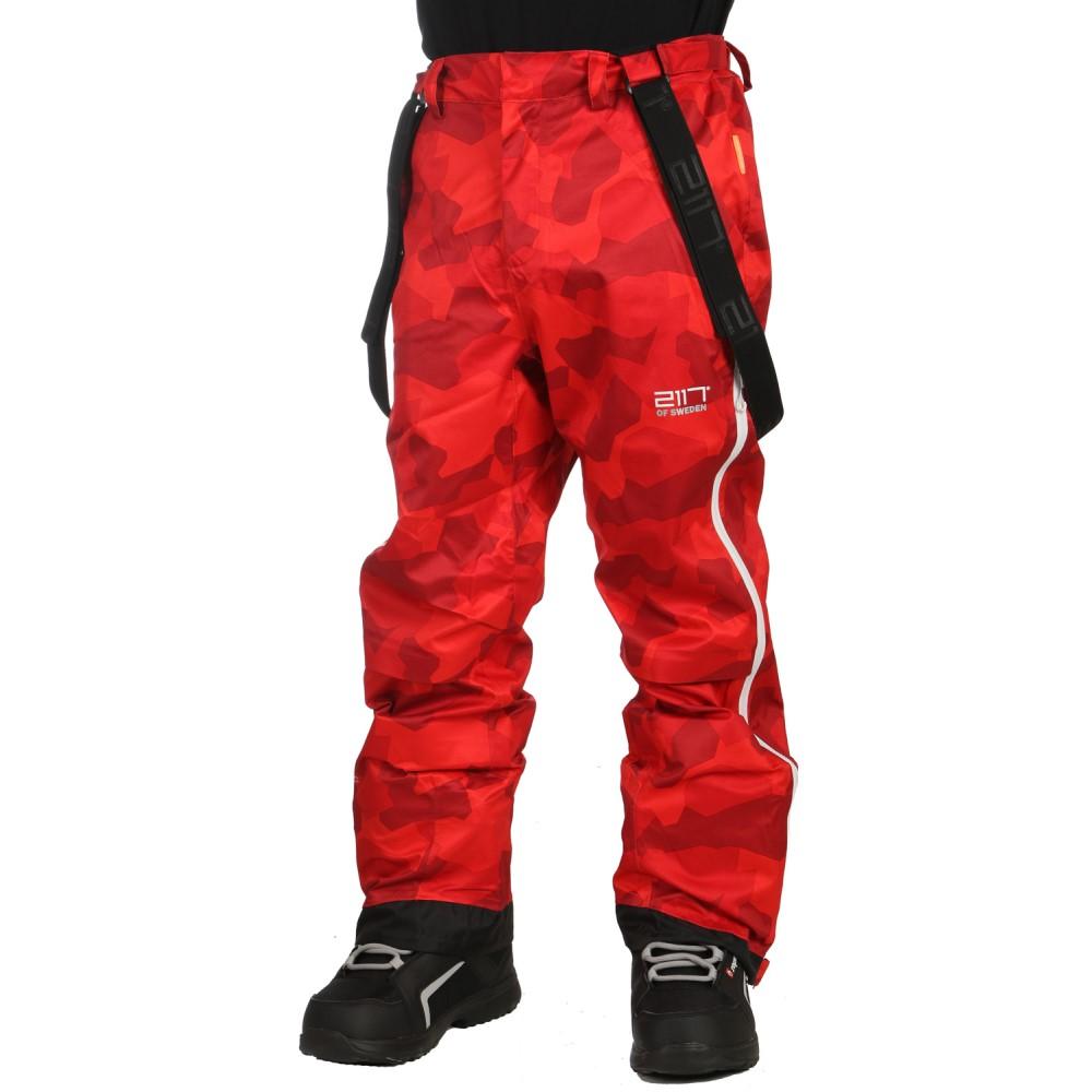 2117オブ スウェーデン メンズ スキー・スノーボード ボトムス・パンツ【Lit Eco 3L Snowboard/Ski Pants 2018】Red Camo