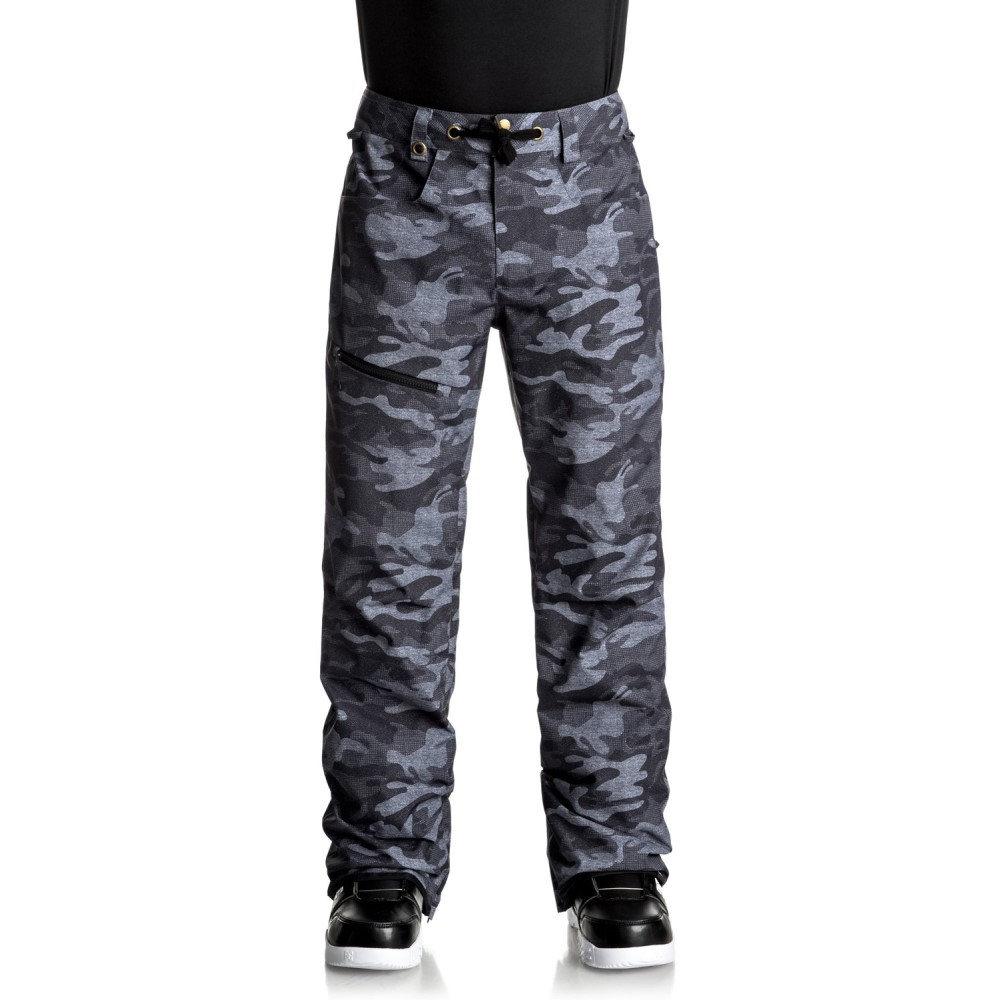 クイックシルバー メンズ スキー・スノーボード ボトムス・パンツ【Forest Oak Snowboard Pants 2018】Black Grey Camokazi