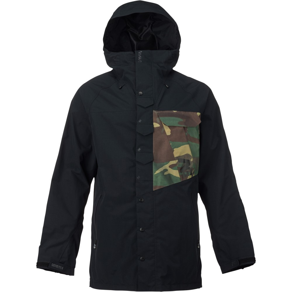 アナログ メンズ スキー・スノーボード アウター【Zenith Gore-Tex Snowboard Jacket】True Black/ Surplus Camo