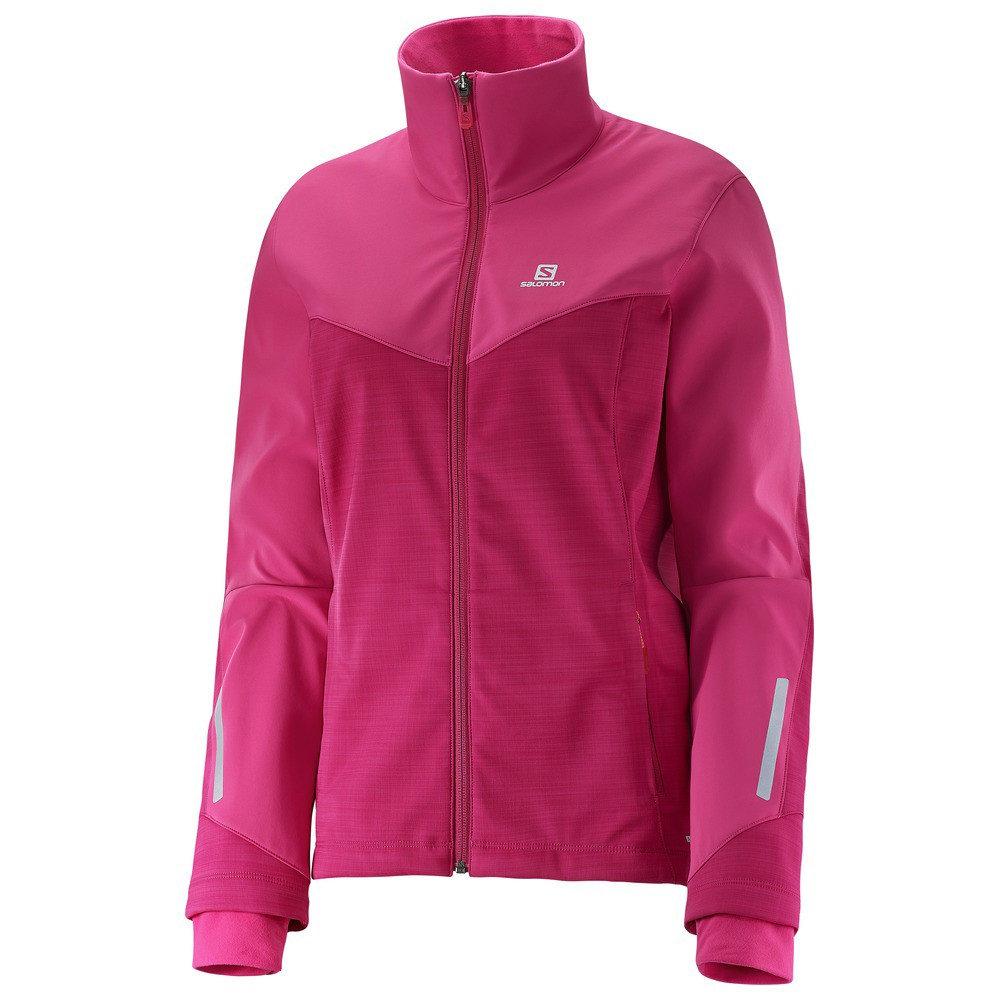 サロモン レディース スキー・スノーボード アウター【Pulse Softshell XC Ski Jacket】Gaura Pink/ Yarrow Pink