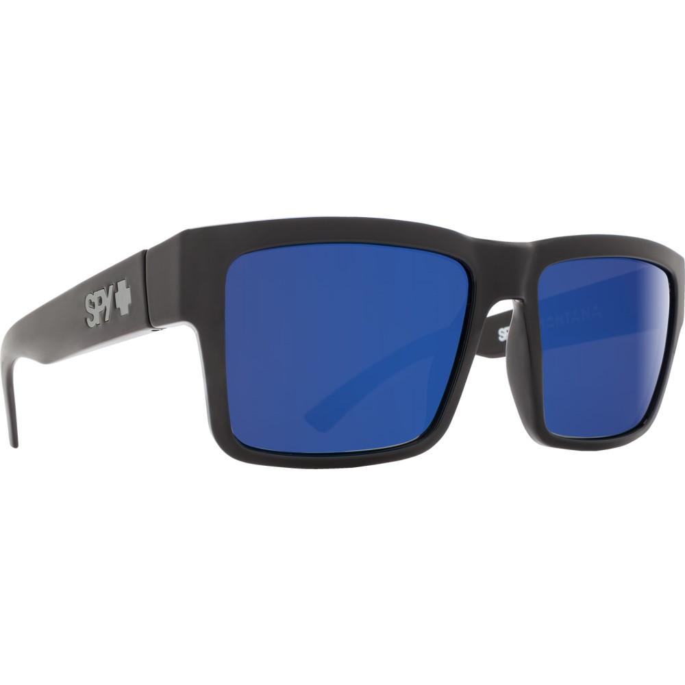 スパイ メンズ メガネ・サングラス【Montana Sunglasses】Black/ Happy Grey Green Polarized Dark Blue Lens