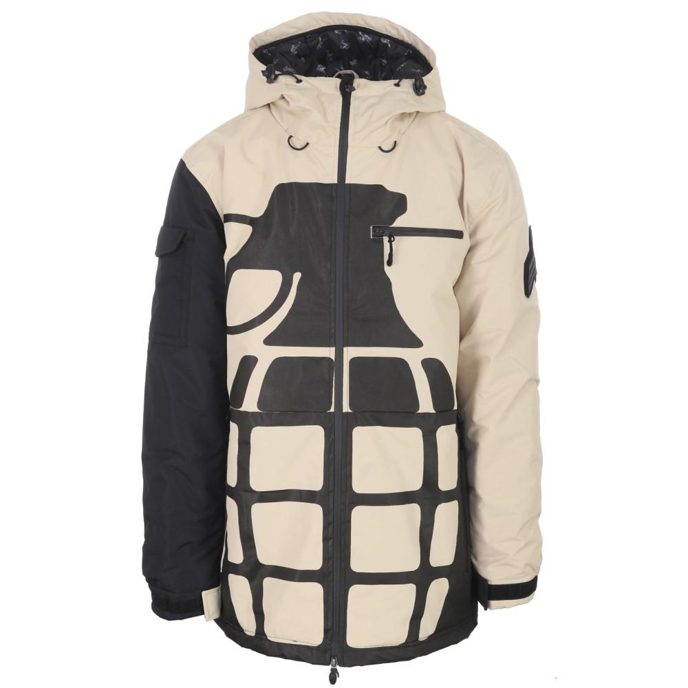 グレネード メンズ スキー・スノーボード アウター【Solid Positive Negative Snowboard Jacket】Khaki/ Black
