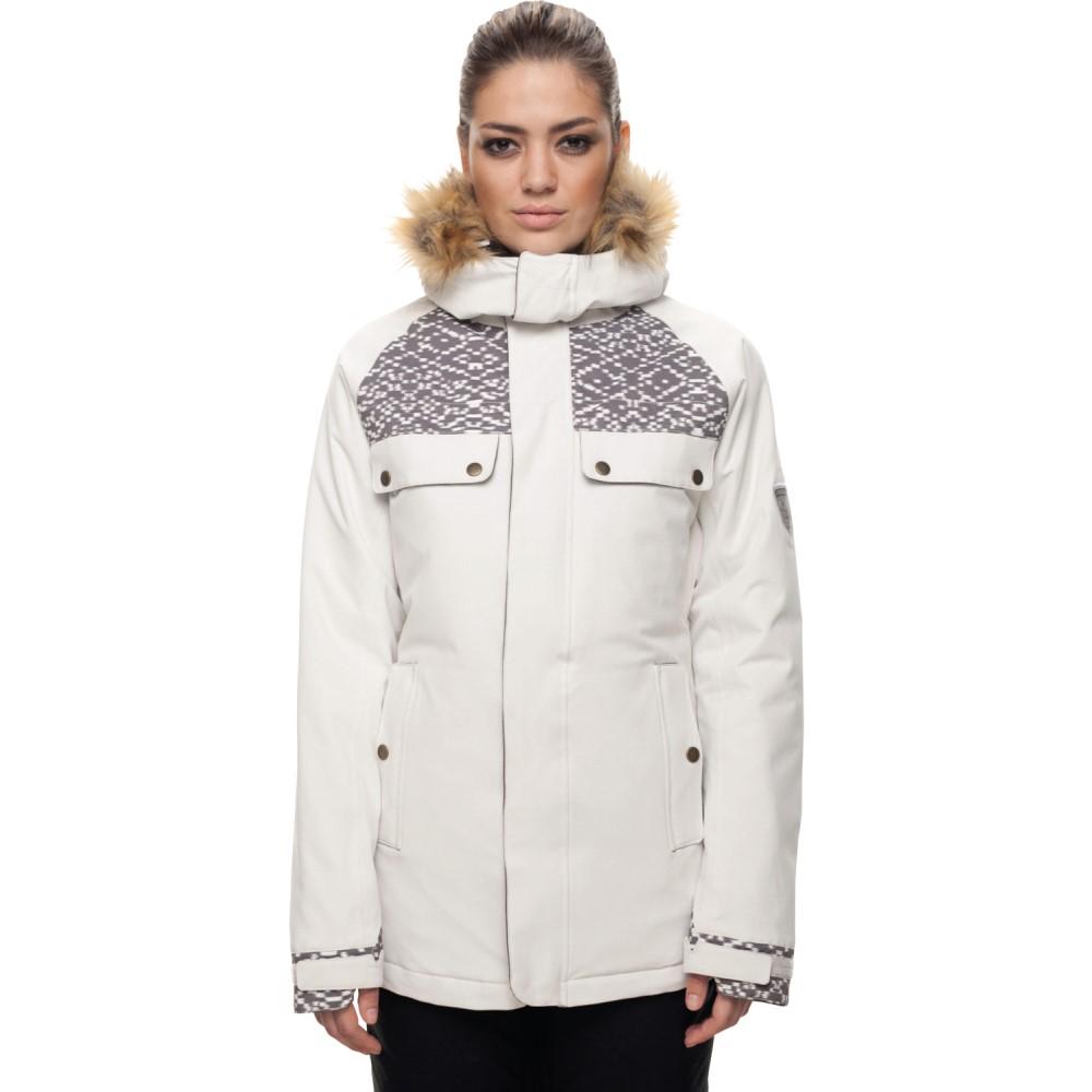 シックス エイト シックス レディース スキー・スノーボード アウター【Dream Insulated Snowboard Jacket 2018】White Weave Print