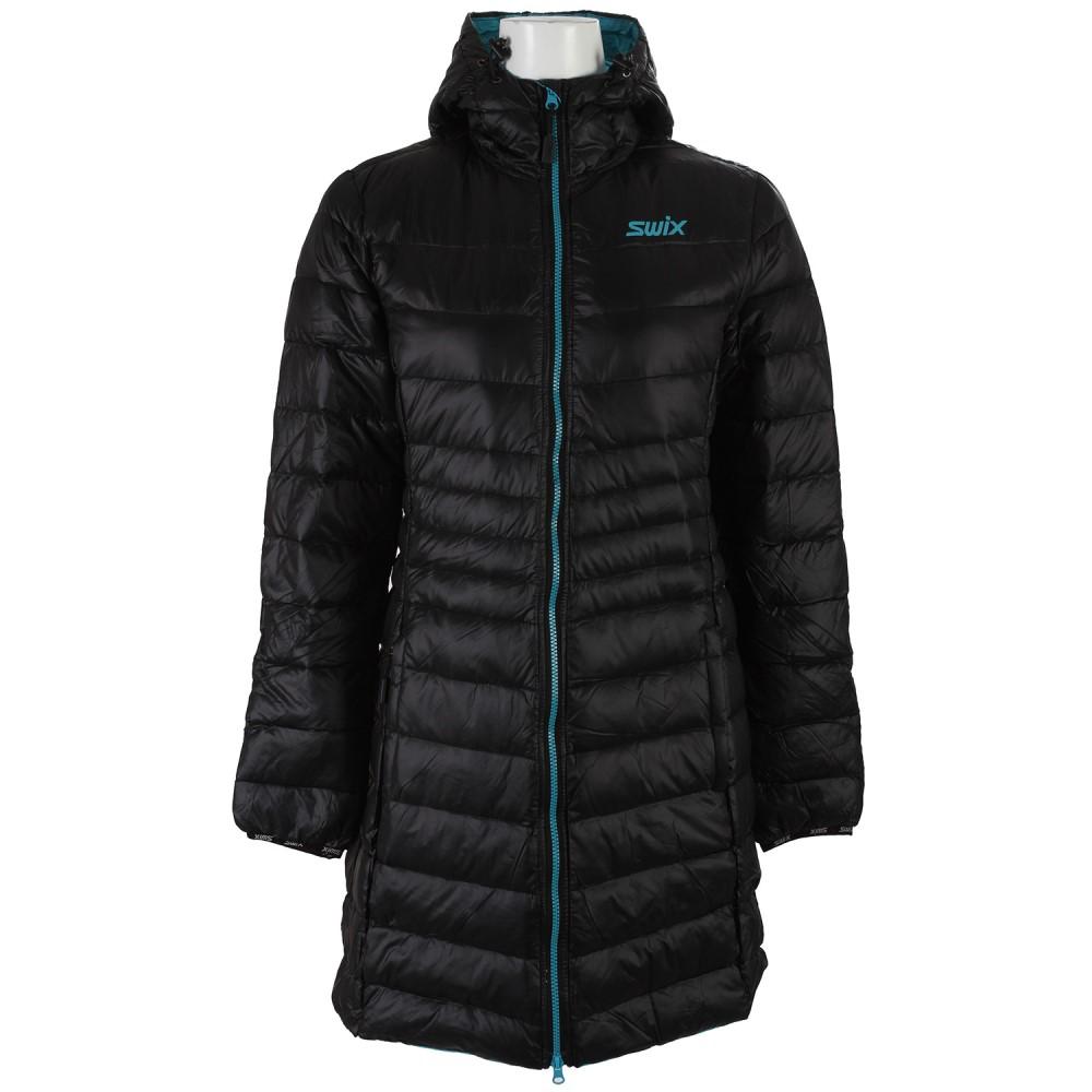 スウィックス レディース スキー・スノーボード アウター【Romsdal Long XC Ski Jacket】Black/ Ice Blue