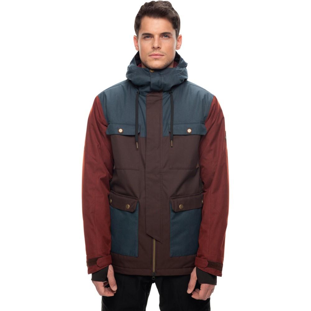 シックス エイト シックス メンズ スキー・スノーボード アウター【Cult Insulated Snowboard Jacket 2018】Espresso Colorblock