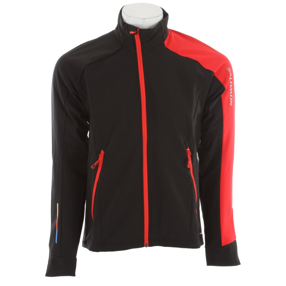 サロモン メンズ スキー・スノーボード アウター【Momentum 3 Softshell Cross Country Ski Jacket】Black/ Matador- X/ Black