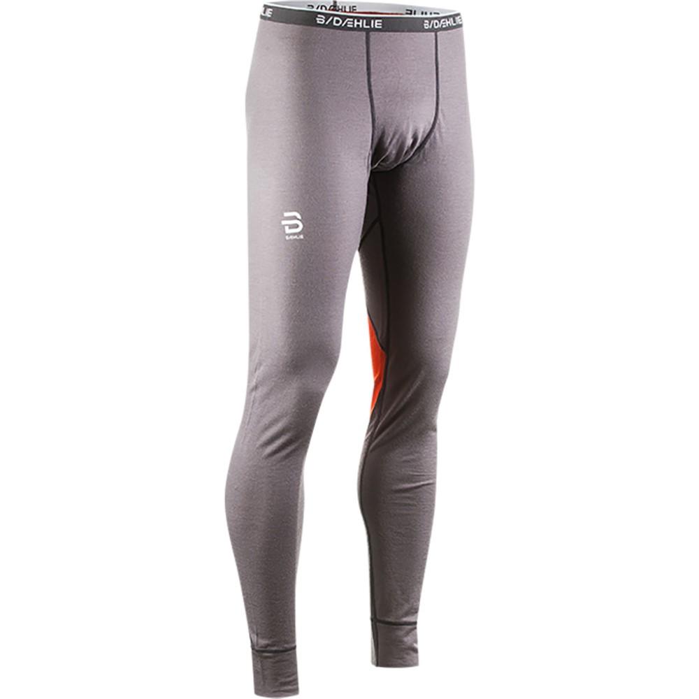 ビョルン ダーリ メンズ スキー・スノーボード ボトムス・パンツ【TrainingWool Baselayer Pants 2018】Grey/ Orange