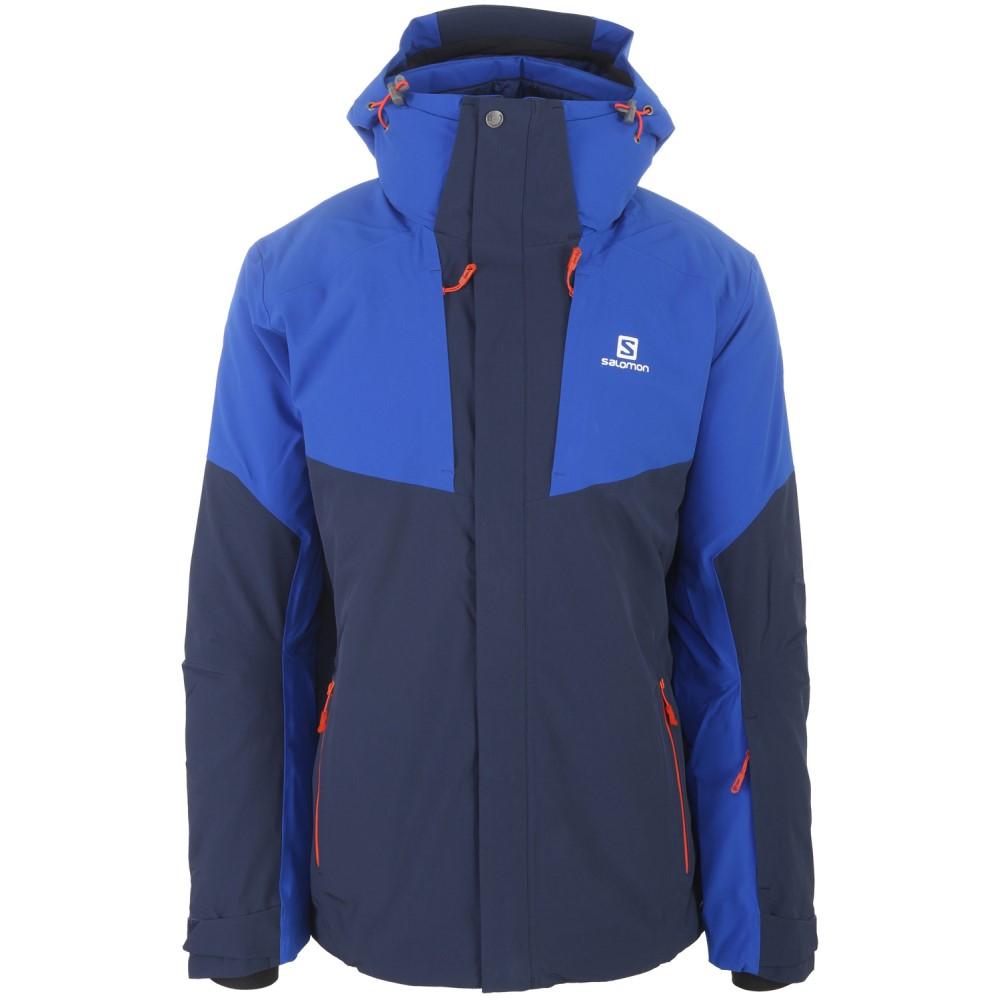 サロモン メンズ スキー・スノーボード アウター【Icerocket Ski Jacket】Big Blue- X/ Blue Yonder